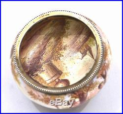 Antique Vienna Austria Ludwig Politzer Enamel Silver Open Salt Cellar Figure