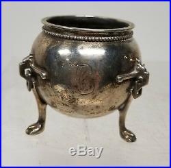 Antique Vintage Sterling Silver Hallmarked Fine Salt Cellars Arts And Crafts
