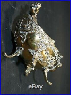 Antique german 800 SILVER CHERUB Figural MASTER OPEN SALT CELLAR germany