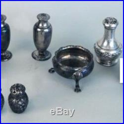 Antique sterling salt & peppers Dominick and Haff Tiffany Gorham not scrap