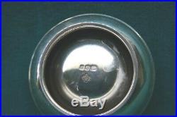 Asprey English 1968 Sterling Silver Salt Cellar & Mustard Pot MAGNIFICENT