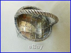 Authentic 1896 Imperial Russian 84 Silver Trompe L'oeil Salt Cellar Shevyakov