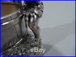 Ball, Black Open Salts Set of 4 Antique Cherubs American Sterling Silver