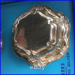 Birks sterling silver salt cellars dishes small bowls vintage set of 4