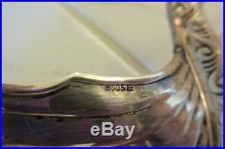 Brodrene Lohne 830S Silver Master Salt Cellar Viking Ship Dish Norway