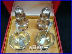 Cartier Sterling Salt Cellar, Spoons, Shaker