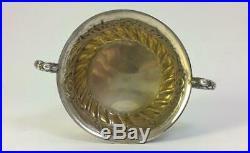 Cased Victorian hallmarked Sterling Silver Salt Cellars & Spoons Cruet Set 1899