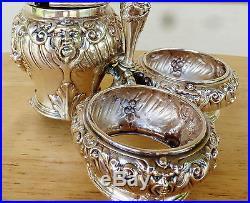 Castor, Master Salt & Salt Dips, All Conected, 800 Sterling Silver, Germany