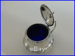 Charles Turner Sterling Silver Mustard & Pepper Pots, Salt Cellar, Cobalt, 1895