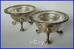 Coppia di porta sale saliere in argento 800 Venezia pair of Silver salt cellars