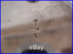 David Andersen Norwegian Sterling Silver Condiment Set Salt Cellar Mustard Pot