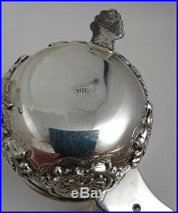 Double Salt Cellar Sterling Silver 925 122 grams WITHOUT GLASS INSERT