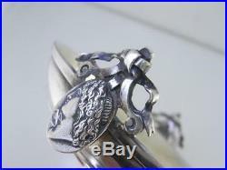 Early Coin Silver GORHAM Master Salt Cellar / Dish MEDALLION c1860s no mono