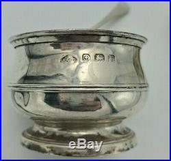 English Sterling Serving Set in Fitted Box Peppers, Salts, Mustard, Spoons 9829