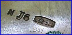 Estonian Pair Of Parcel Gilt 875 Silver Open Salt Cellars Tallinn Ca 1950