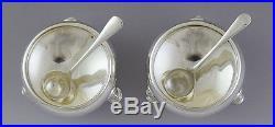 Fabulous 4pc Sterling Silver Open Salt & Pepper Shaker Set