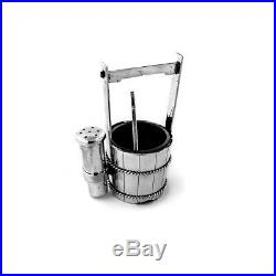 Figural Bucket Form Salt Cellar and Pepper Shaker 950 Sterling Japan