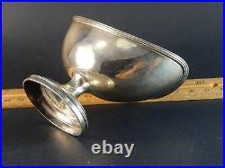Fine English Sterling Silver Gold Wash Salt Cellar Henry Chawner London 1791