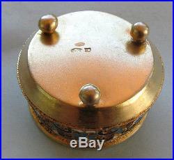 Fine Imperial Russian Silver-Gilt Enamel Salt Cellar NR