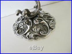 Fine Italian 925 Sterling Silver & Blue Crystal Filigree Ornate Salt Holder 2138