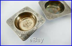 Fine Set Aesthetic Sterling Salt Dips Wood & Hughes ca-1870 RARE