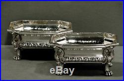 French Sterling Boxes Master Salts c1890 Odiot, Paris