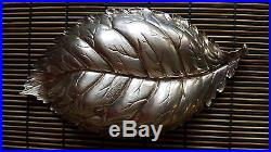 Genuine Gianmaria BUCCELLATI Sterling Silver (925) Leaf Bowl / Salt Cellar