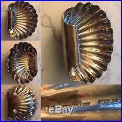 Genuine Rare Vintage Sterling Silver Buccellati Shell 4 Feet Bowl Or Salt Cellar