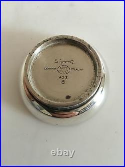 Georg Jensen Bernadotte Sterling Silver Salt dish with blue Enamel #902B
