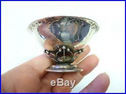 Georg Jensen Sterling Silver 235D Nut Dish Salt Cellar Dish Deco Hand Wrought