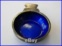 Georg Jensen Sterling Silver Blue Enamel Salt Dish #15 Harald Nielsen