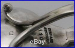 Georg Jensen Sterling Silver Master & Individual Salt Cellars and Salt Spoons