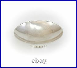Georg Jensen Sterling Silver Open Salt Cellar No. 825 by Sigvard Bernadotte c1950