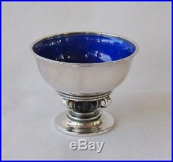 Georg JensenACORN #741 Salt Cellar Sterling Silver Blue/Enamel Denmark Danish