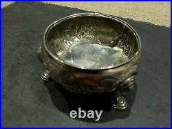 George II silver cauldron salt cellar, possibly London 1749