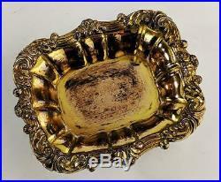 George III Old Sheffield Plate Style Gilded Salt Cellars 19th Century