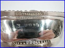 George III Open Salts Antique Georgian Regency Pair English Sterling Silver