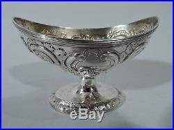 Georgian Open Salts Set of 4 Antique Neoclassical English Sterling Silver