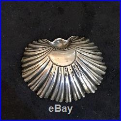 Gianmaria Buccellati 925 Silver Salt Cellar Ring Dish Clam Shell Design