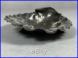 Gorham Narraganset Sterling Silver Oyster, Salt or Nut Dish RARE shape 1887