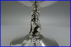 Gorham RARE Sterling Silver 1890 Art Nouveau Egyptian Big Master Salt Cellar WOW