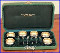 Gorham Sterling Set 6 Gold Wash Salt Dips, 6 Gold Wash Salt Spoons original case