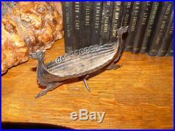 HTF Brodrene Lohne, Norge Viking Ship Master Salt, Bergen, Norway, 830 Silver