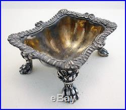 Heavy Scottish Antique Solid Britannia Silver SALT Dish Cellar Thomas Smith Son