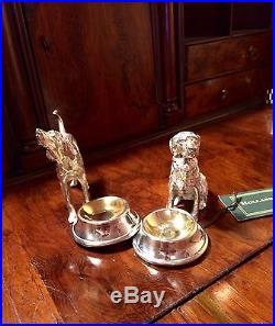 Holland & Holland Silver And Bronze Dog Table Salt Cellar Shotgun. Not Purdey