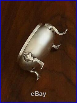 - James Robinson Sterling Silver Footed Cauldron Salt Cellar New York City