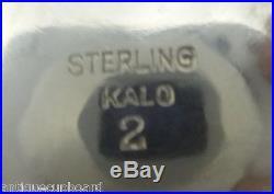 Kalo Sterling Silver Salt Dip Handwrought 2 5/8 Diameter (#0447)