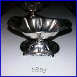 Karol Filip Malcz Silver Salt Cellars 1797-1867 2 x 3 3/4 71 grams each
