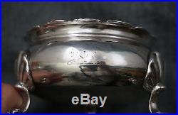 LONDON Sterling Silver MASTER SALT Cobalt Liner DAVID & RICHARD HENNELL 1764