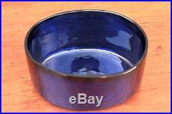 Large French Silver Master Sugar Cobalt Blue Glass Liner, Minerva mark